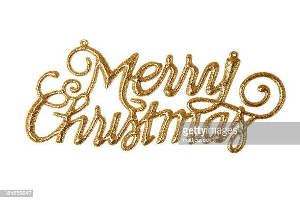 Merry Christmas Words Stock Photos and Pictures | Getty Images