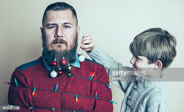 merry christmas. - facial hair stock pictures, royalty-free photos & images