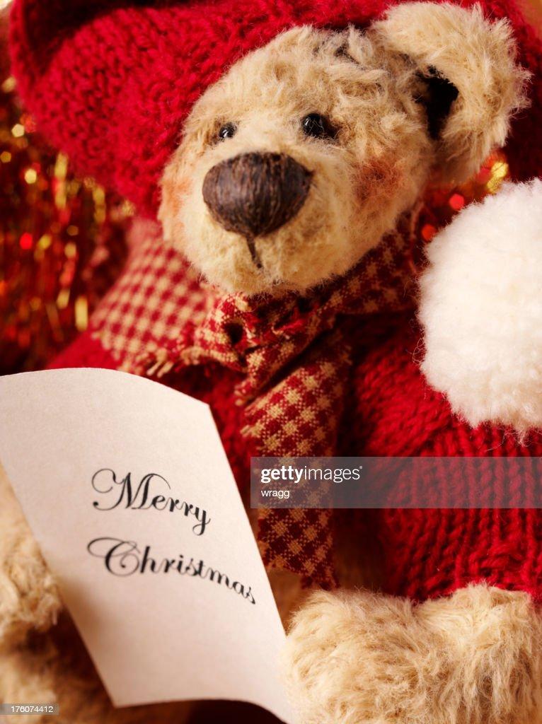Teddy Weihnachten.Frohe Weihnachten Teddy Bear Stock Foto Getty Images