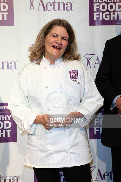 Merry Graham wins the Aetna Healthy Food Fight regional semifinal cookoff at ABC Studios on December 2 2011 in New York City