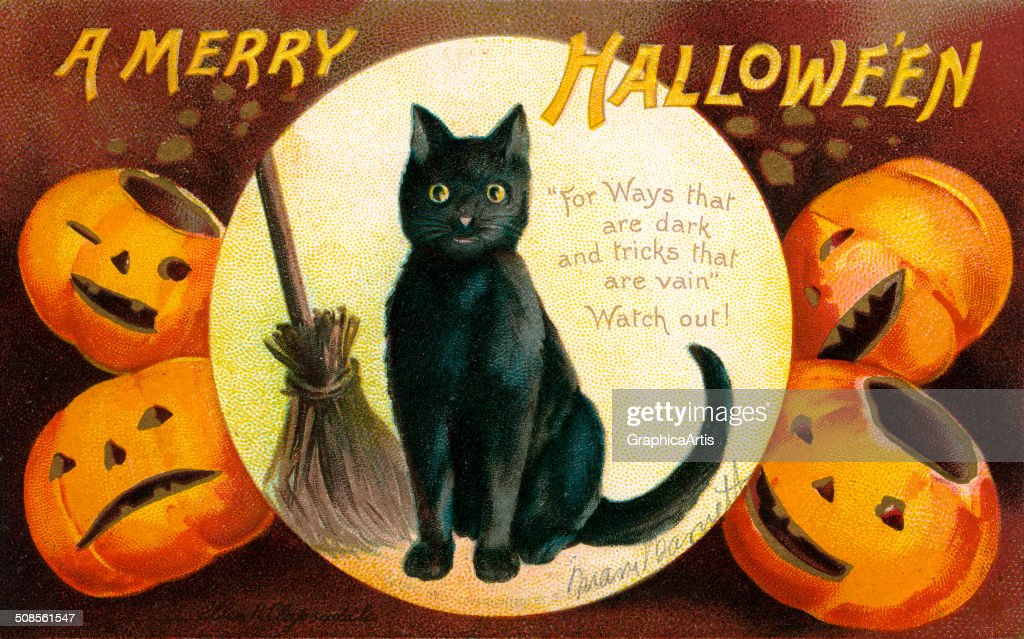 A Merry Halloween Illustration : News Photo