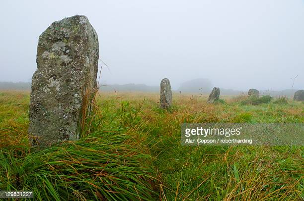 merry maidens stone circle, cornwall, england, united kingdom, europe - alan copson stock pictures, royalty-free photos & images