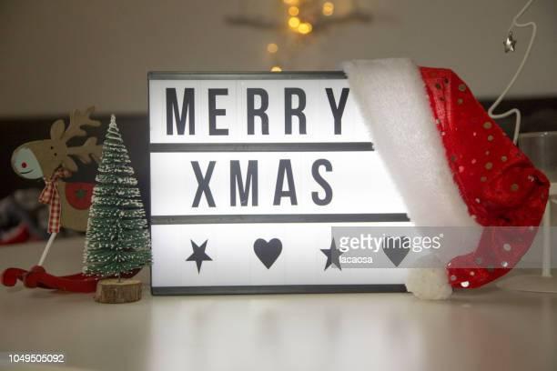 merry xmas in a lightbox