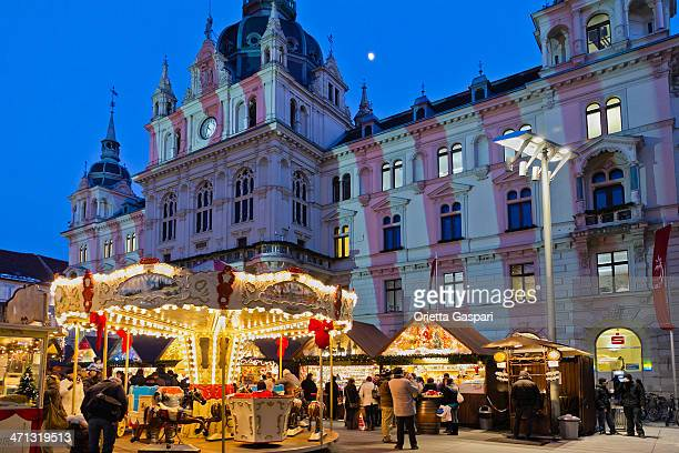 merry-go-round, graz - graz stock photos and pictures