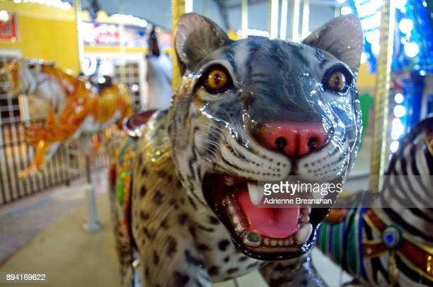 merry-go-round leopard - animal representation stock pictures, royalty-free photos & images