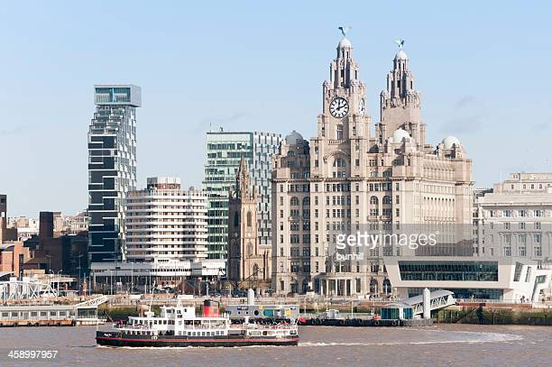 Mersey Ferry and Royal Liver Building - Liverpool