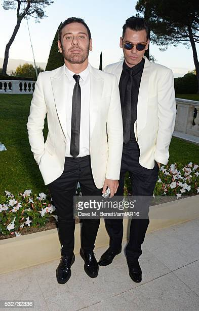 Mert Alas and Marcus Piggott attend amfAR's 23rd Cinema Against AIDS Gala at Hotel du Cap-Eden-Roc on May 19, 2016 in Cap d'Antibes, France.