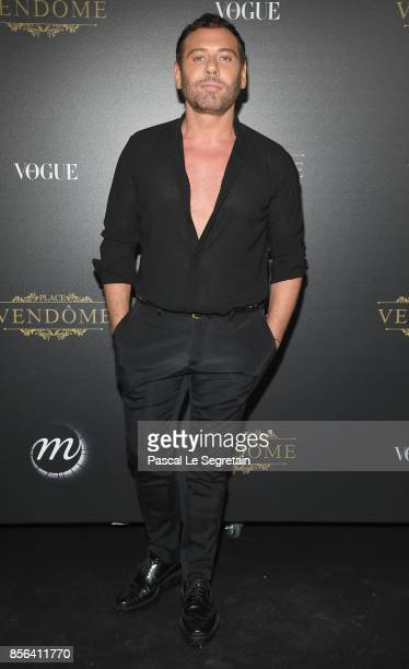 Mert Alas attends the Vogue Party as part of the Paris Fashion Week Womenswear Spring/Summer 2018 at Le Petit Palais on October 1, 2017 in Paris,...