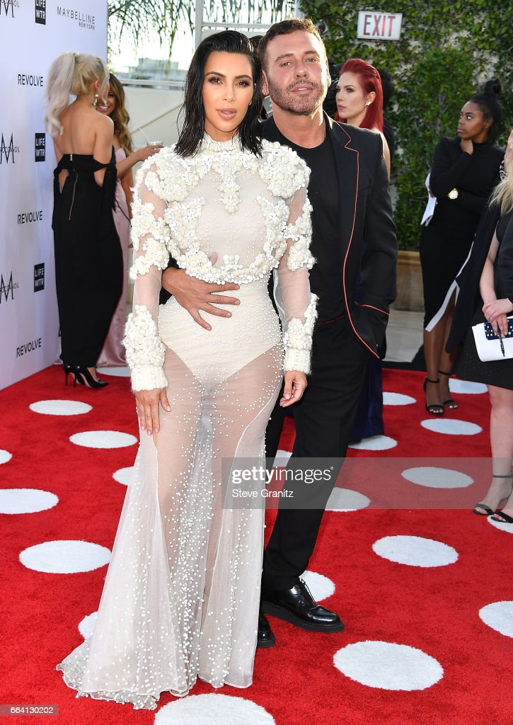 Mert Alas, Kim Kardashian arrives at the Daily Front Row's 3rd Annual Fashion Los Angeles Awards on April 2, 2017 in West Hollywood, California.