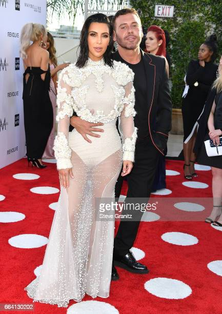 Mert Alas Kim Kardashian arrives at the Daily Front Row's 3rd Annual Fashion Los Angeles Awards on April 2 2017 in West Hollywood California