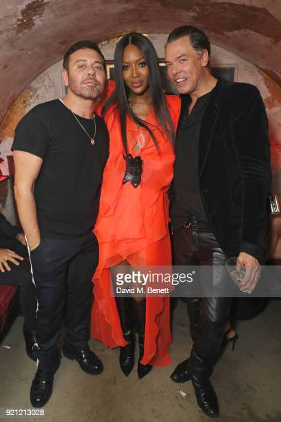Mert Alas Naomi Campbell and Marcus Piggott attend Mert Alas' birthday party hosted by Ciroc at MNKY HSE on February 19 2018 in London England