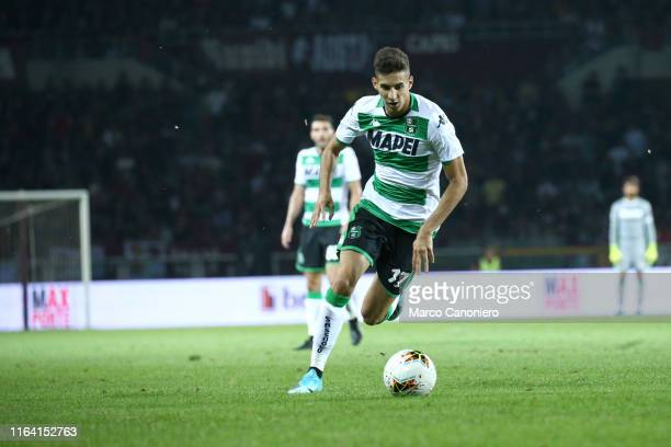 Mert Muldur of Us Sassuolo Calcio in action during the the Serie A match between Torino Fc and Us Sassuolo Calcio Torino Fc wins 21 over Us Sassuolo...