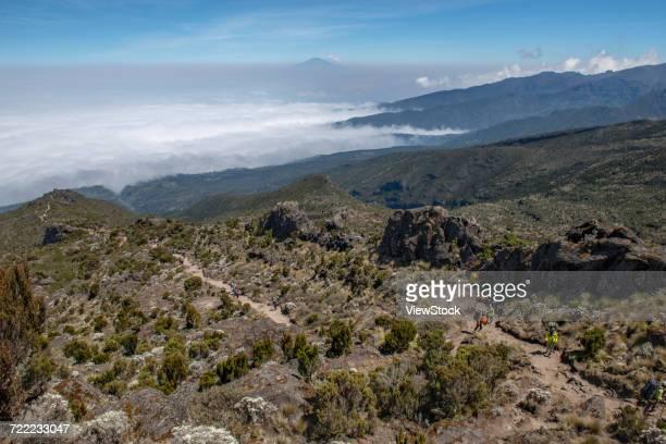 meru peak of kilimanjaro  - meru filme stock-fotos und bilder
