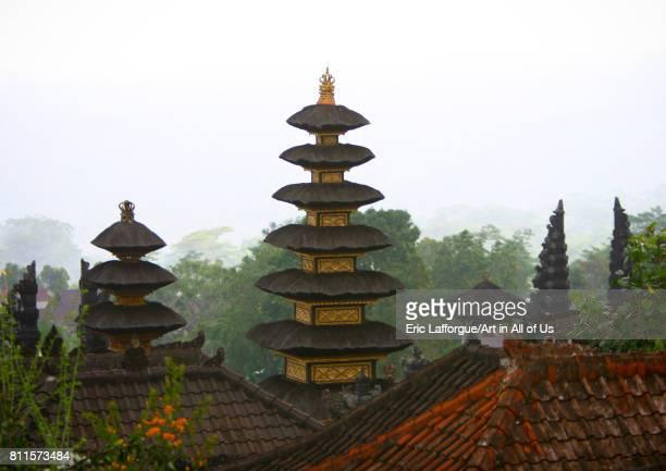 Meru towers at Besakih temple Bali island Mount Agung Indonesia on July 15 2005 in Mount Agung Indonesia