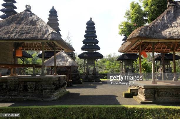 meru towers in the main sanctum of pura taman ayun temple.mengwi.bali.indonesia - meru filme stock-fotos und bilder