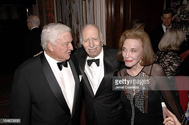 Merv Griffin, David Brown and Helen Gurley Brown during Merv Griffin Honored at the Museum of Television and Radio's Annual Gala at Waldorf Astoria...