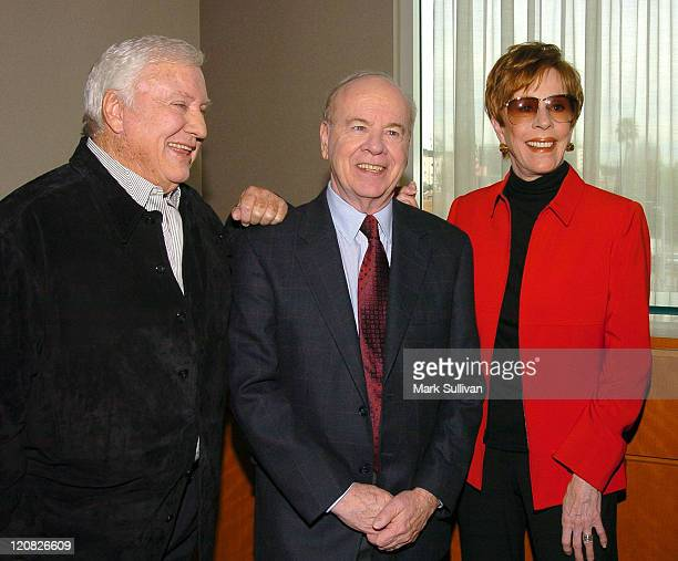 Merv Griffin, Tim Conway and Carol Burnett during 2004 Cable Press Tour - Day 4 at Renaissance Hollywood Hotel in Hollywood, California, United...