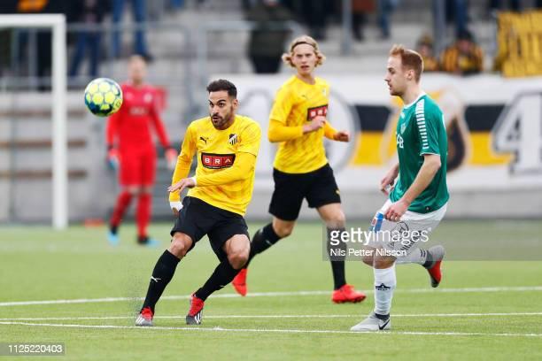 Mervan Celik of BK Hacken during the Svenska Cupen group stage match between BK Hacken and IK Brage at Bravida Arena on February 16 2019 in...