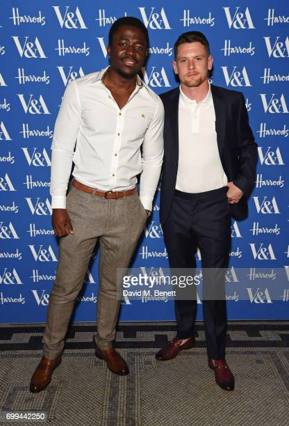 Merveille Lukeba and Jack O'Connell attend the 2017 annual VA Summer Party in partnership with Harrods at the Victoria and Albert Museum on June 21...
