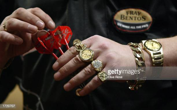 Mervyn King of England during the Embassy World Darts Championships SemiFinals at the Lakeside Country Club in Frimley Green Surrey on January 11...