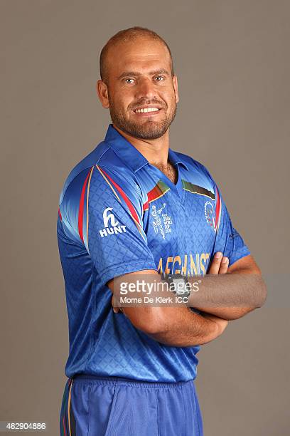 Merwais Ashraf poses during the Afghanistan 2015 ICC Cricket World Cup Headshots Session at the Intercontinental on February 7 2015 in Adelaide...