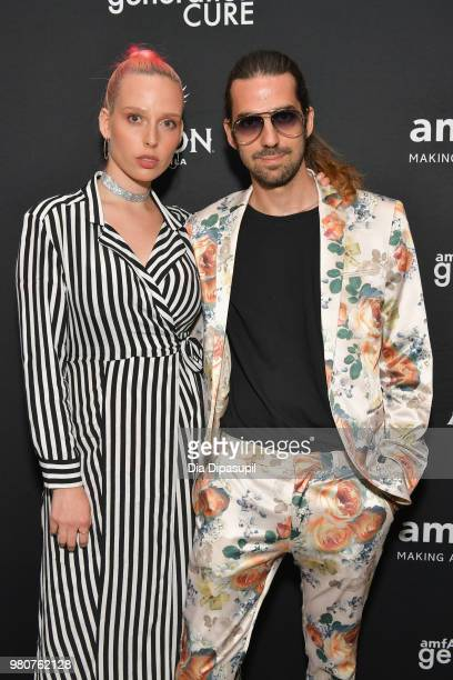 Mery Racauchi and Jazmin Grace attends the amfAR GenCure Solstice 2018 on June 21 2018 in New York City