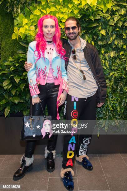 Mery Racauchi and Ringo Merea attend the Alfa Development Launch Celebration on October 12 2017 in New York City