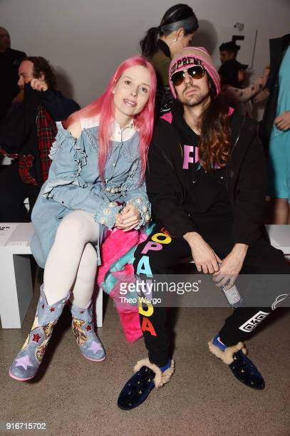 Mery Racauchi and Ringo Merea attend the Christian Cowan fashion show during New York Fashion Week The Shows at Gallery II at Spring Studios on...
