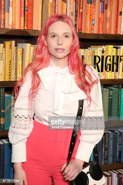 Mery Racauchi attends the Alice Olivia by Stacey Bendet presentation during New York Fashion Week The Shows at Industria Studios on February 13 2018...