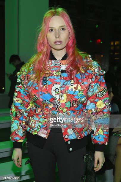 Mery Racauchi attends the Vivienne Hu front row during New York Fashion Week The Shows at Gallery II at Spring Studios on February 13 2018 in New...