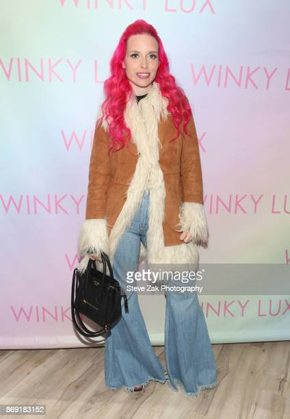 Mery Racauchi attends the Winky Lux Makeup Clubhouse Grand Opening on November 1 2017 in New York City