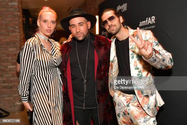 Mery Racauchi Jazmin Grace and Parson James attend the amfAR GenCure Solstice 2018 on June 21 2018 in New York City