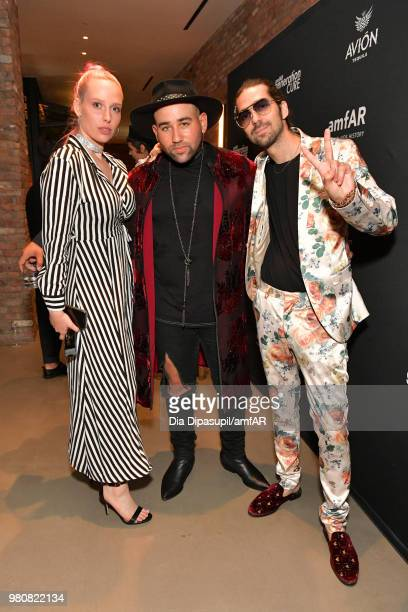 Mery Racauchi Parson James and Jazmin Grace attends the amfAR GenCure Solstice 2018 on June 21 2018 in New York City