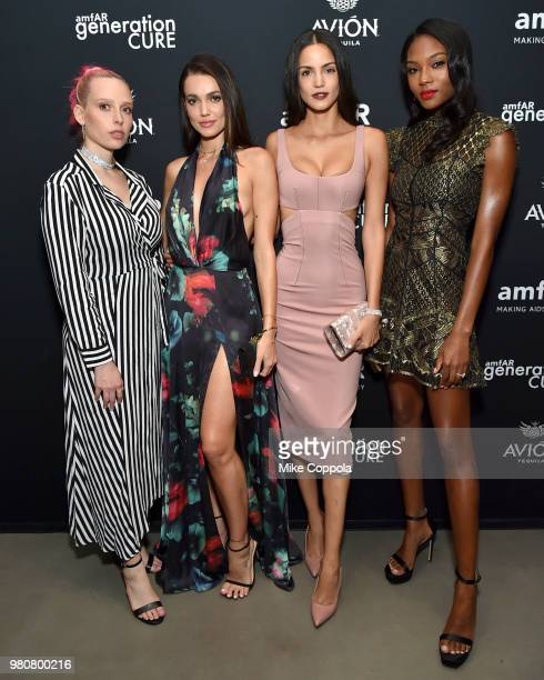 Mery Racauchi Sofia Resing Marianne Fonseca and Afiya Bennett attends the amfAR GenCure Solstice 2018 on June 21 2018 in New York City