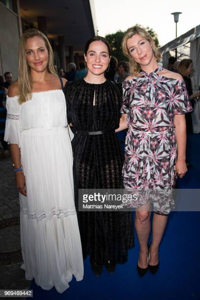 Meryem Uzerli Verena Altenberger and Brigitte Zeh attend the Summer Party of the German Producers Alliance on June 7 2018 in Berlin Germany