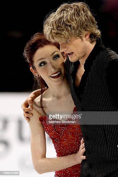 Meryl Davis and Charlie White finish their routine in the Championship Free Dance during the US Figure Skating Championships at the Greensboro...
