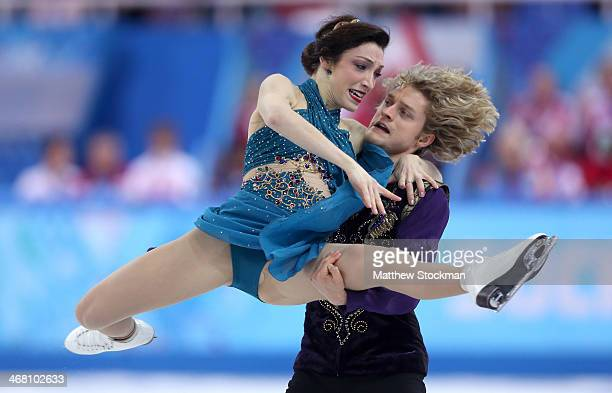 Meryl Davis and Charlie White of the United States compete in the Team Ice Dance Free Dance during day two of the Sochi 2014 Winter Olympics at...