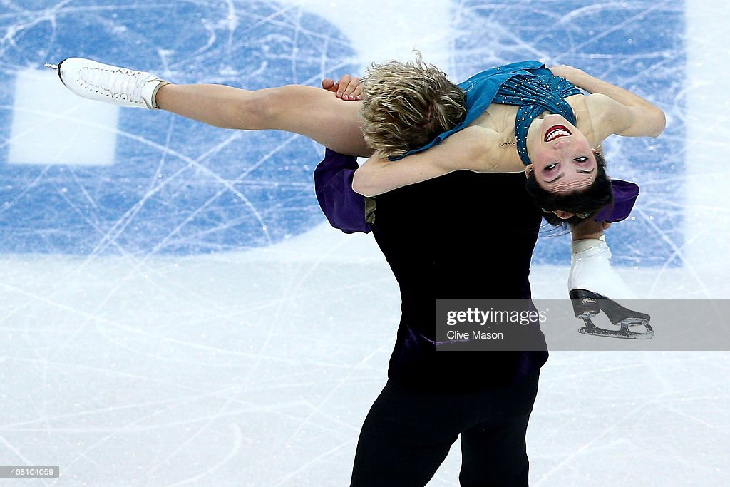 Meryl Davis and Charlie White of the United States compete in the Team Ice Dance Free Dance during day two of the Sochi 2014 Winter Olympics at Iceberg Skating Palace onon February 9, 2014 in Sochi, Russia.