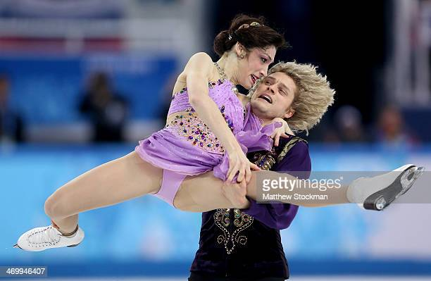 Meryl Davis and Charlie White of the United States compete in the Figure Skating Ice Dance Free Dance on Day 10 of the Sochi 2014 Winter Olympics at...