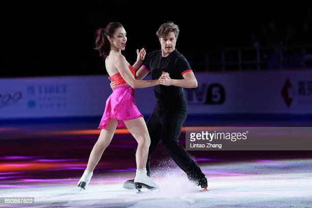Meryl Davis and Charlie White of the United States performs during the Stars On Ice 2017 China Tour at Beijing Capital Gymnasium on December 16 2017...