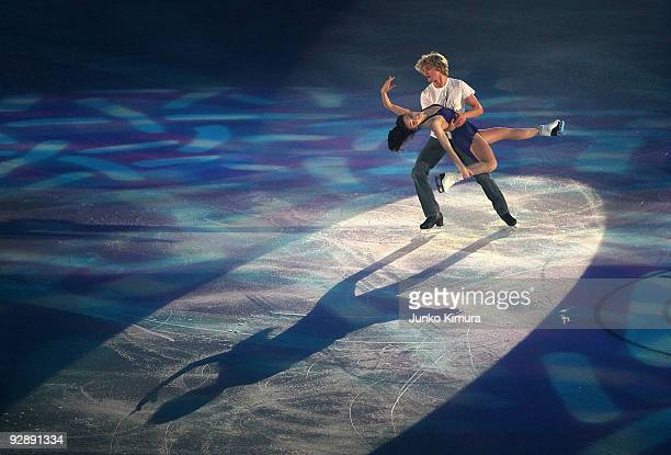 Meryl Davis and Charlie White of the US perform in the Gala Exhibition on the day three of ISU Grand Prix of Figure Skating NHK Trophy at Big Hat on...
