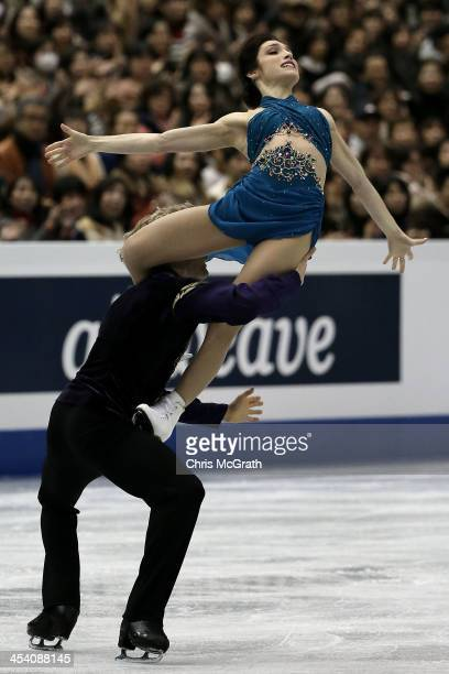 Meryl Davis and Charlie White of the USA compete in the Ice Dance Free Dance Final during day three of the ISU Grand Prix of Figure Skating Final...