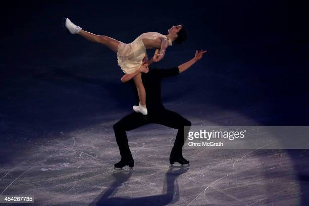 Meryl Davis and Charlie White of the USA perform their routine in the ISU Gala during day four of the ISU Grand Prix of Figure Skating Final...