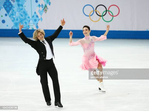 Meryl Davis and Charlie White of USA perform during the Ice Dance Short Dance of the Figure Skating event at the Iceberg Palace during the Sochi 2014...
