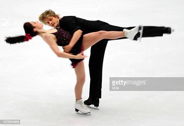 Meryl Davis and Charlie White of USA skate in the Ice Dance Free Dance during ISU Grand Prix and Junior Grand Prix Final at Beijing Capital Gymnasium...