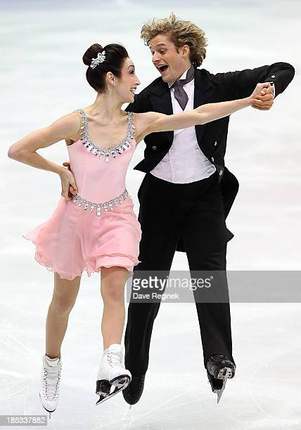 Meryl Davis and Charlie White perform during the ice dance short program at Skate America at Joe Louis Arena on October 18 2013 in Detroit Michigan
