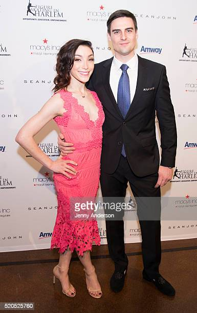 Meryl Davis and Fedor Andreev attend 11th Annual Skating With The Stars Gala at 583 Park Avenue on April 11 2016 in New York City