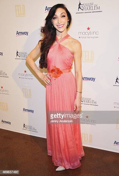 Meryl Davis attends the 10th Annual Skating With The Stars Benefit Gala at 583 Park Avenue on April 13 2015 in New York City