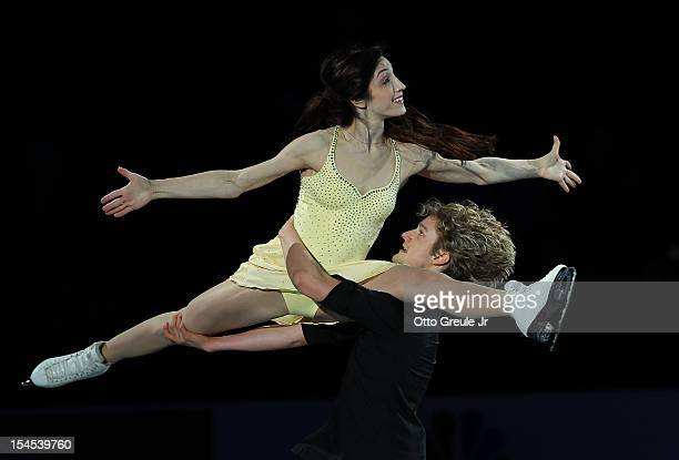 Meryl Davis Charlie White perform in the Smucker's Skating Spectacular event during the Skate America competition at the ShoWare Center on October 21...