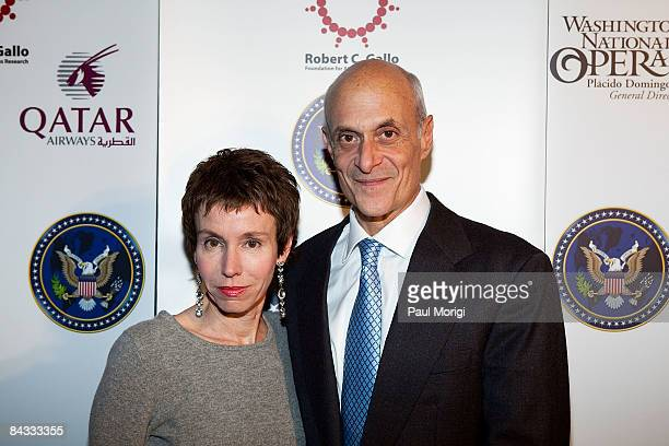 Meryl Justin Chertoff and US Secretary of Homeland Security Michael Chertoff at the celebration to honor the Inauguration of Barack Obama at Cafe...